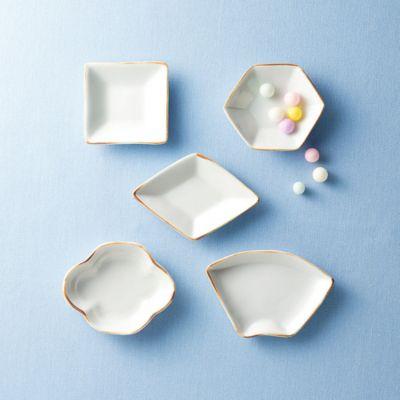 <集英社> 豆皿5種セット【木甲・菱・扇・正角・亀甲】画像