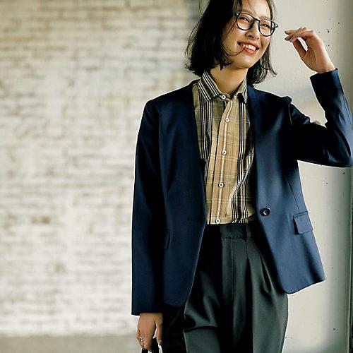 Feliz Lunes/【バイラーズコラボ】洗えるノーカラージャケット/¥14,900+税