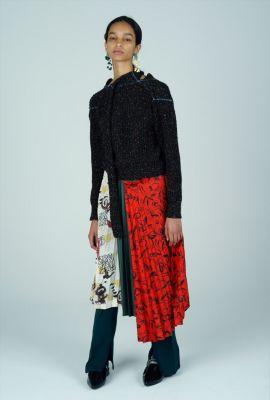 Print mix skirt