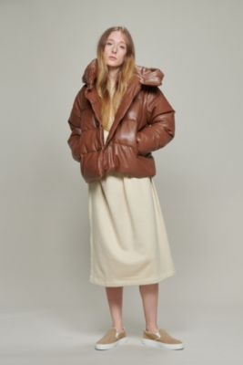 POLYESTER SHORT PUFFER WITH HOOD