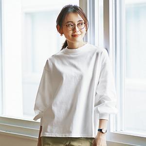 【石上美津江さんコラボ】【洗える】ギャザースリーブTシャツ¥8,900+税