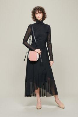 Dotted Mesh Skirt