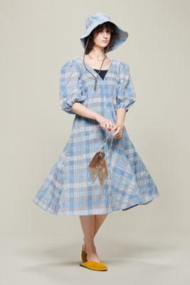 Seersucker Check Dress