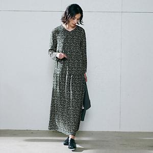 【編集部と考えました!】フラワーティアードワンピース ¥20,900