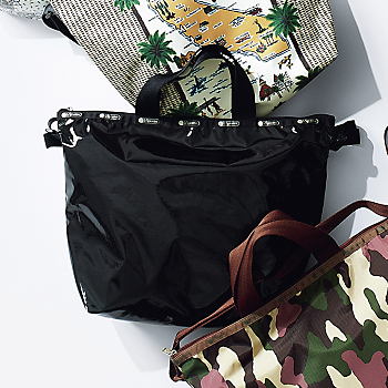DELUXE EASY CARRY TOTE/ブラックパテントシル