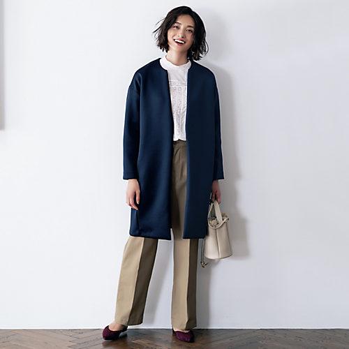 12closet (洗える)ダブルフェイスジャケットコート  ¥19000+税
