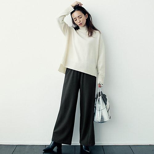 12closet 【洗える】あったか裏起毛リラックスパンツ ¥9,800 + 税