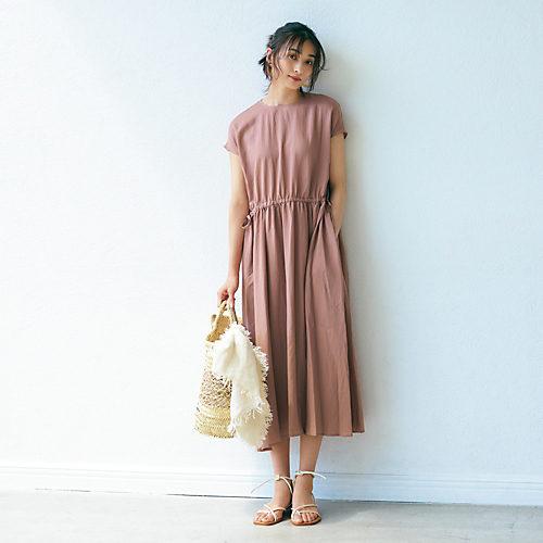 12closet【洗える】ウエストギャザーワンピース¥18,700