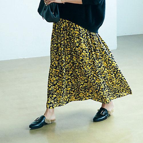 エムセブンデイズ フラワープリントスカート