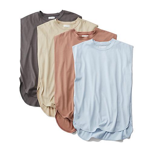 確実にしゃれて見える、スモーキーなニュアンスカラー 【松村純子さんコラボ】ノースリーブTシャツ