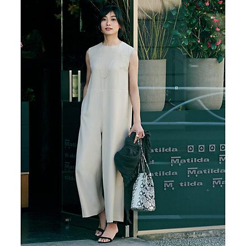 着る人の女性らしさを引き立てるオールインワン 【松村純子さんコラボ】大人のオールインワン