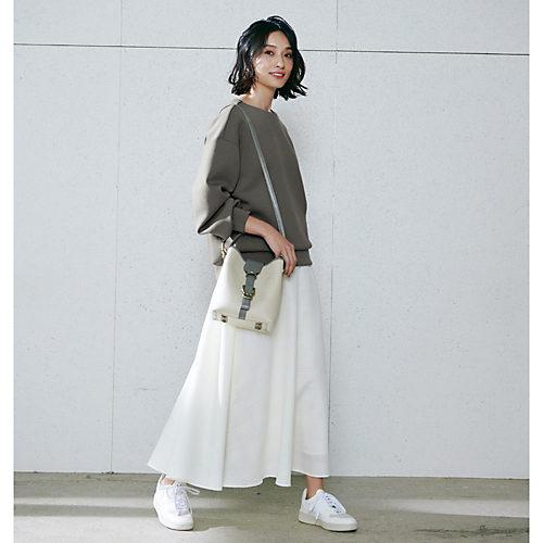 M7days(エムセブンデイズ) 【編集部と考えました!】チェック織柄フレアスカート