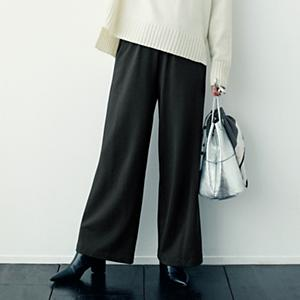 【洗える】あったか裏起毛リラックスパンツ¥9,800+税