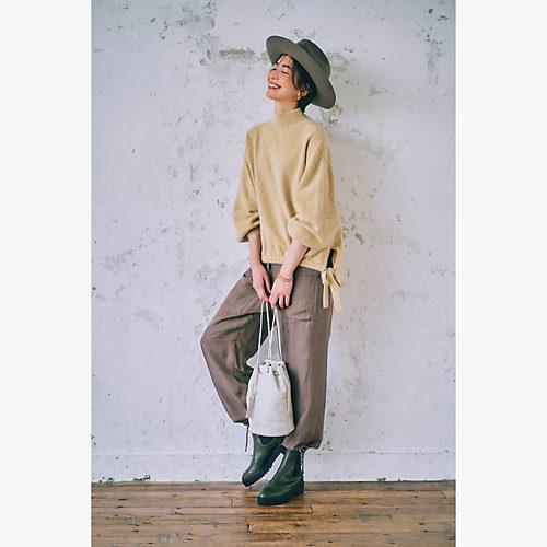 <全身イメージカット>suadeo/【佐藤繊維】コラボ フォックス混ウールタートルネックセーター/¥19,800