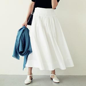 【洗える】サスペンダー付きラップスカート ¥15,400