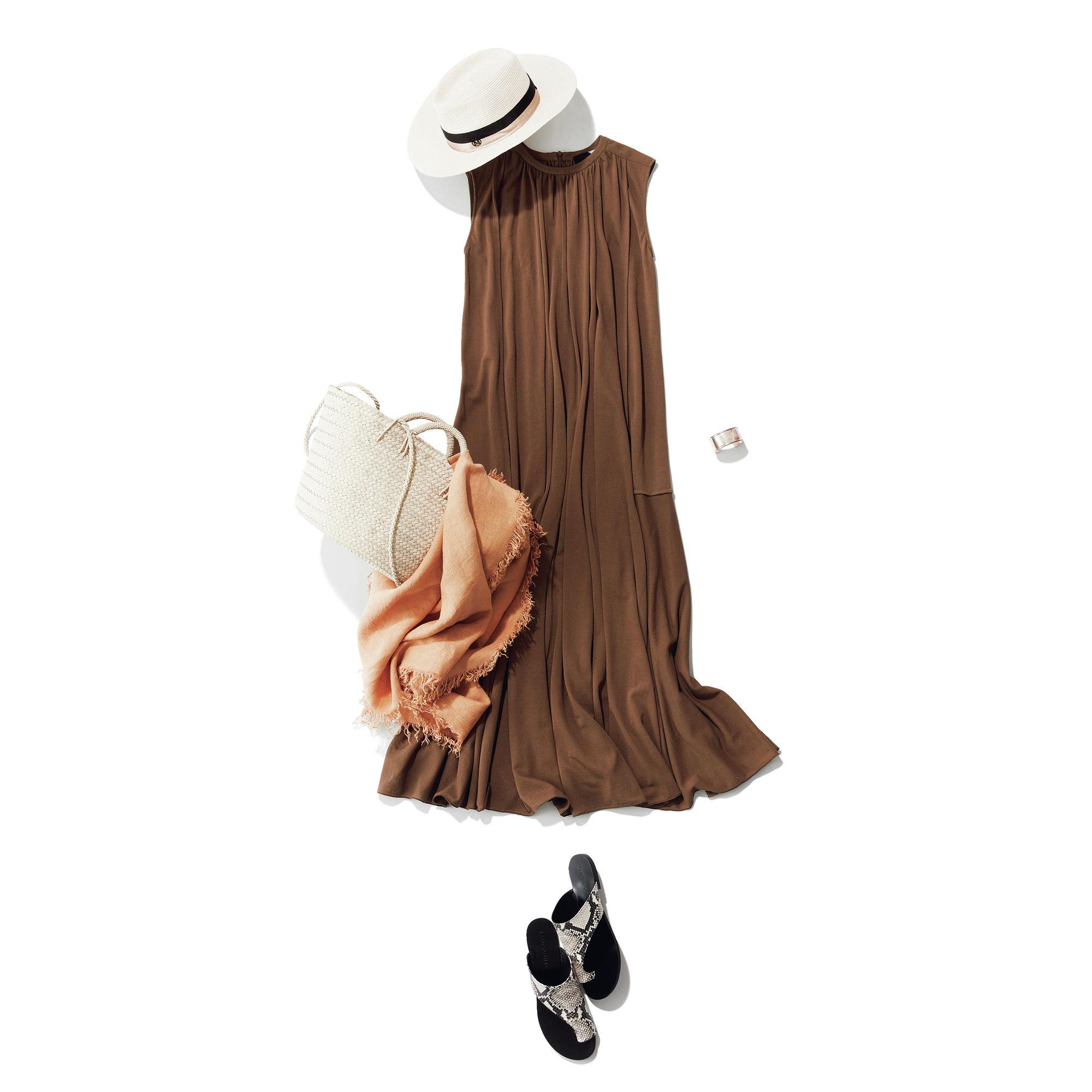ATON (エイトン) FRESCA KANOKO /ギャザードレス ¥60,500