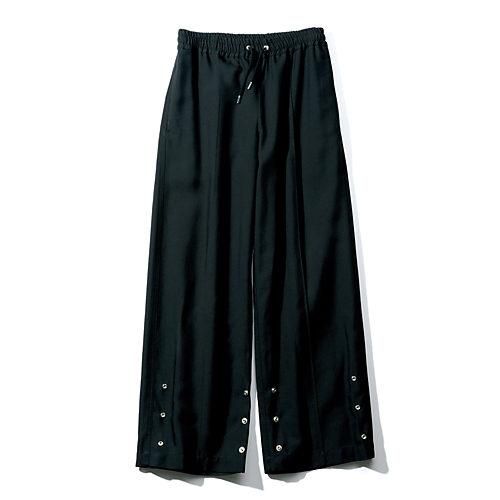 地曳いく子×CINOH(ジビキイクコ×チノ) 裾スナップつき2WAYパンツ