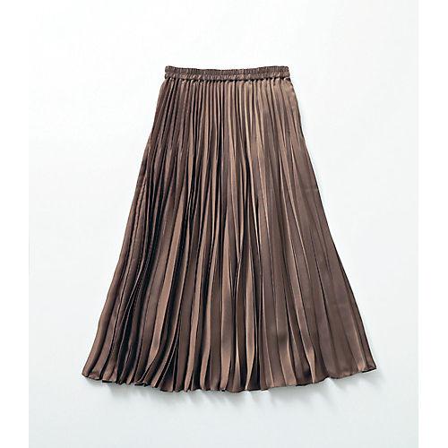 12closet/プリーツギャザースカート ミディ丈(76cm丈)/¥12000