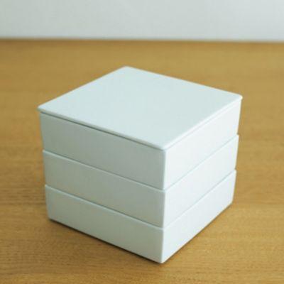 <集英社> 白磁重箱 三段 15cm角画像