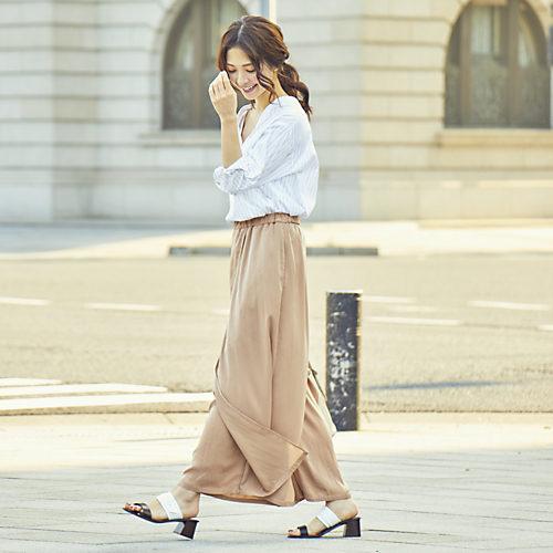 ロングスカート見えするワイドパンツ