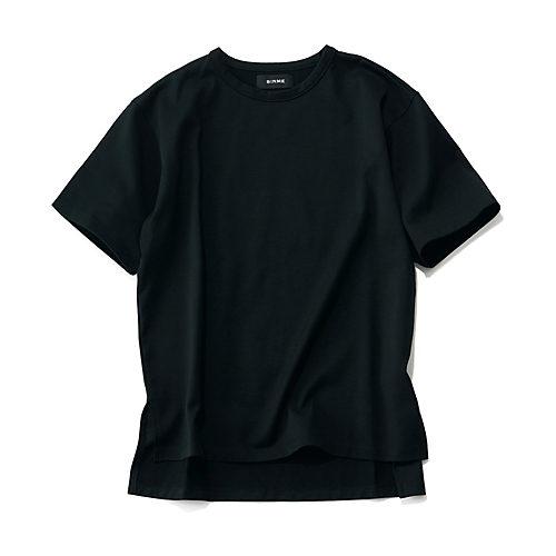 SINME×éclat スリット入りビッガーTシャツ