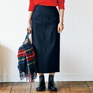 【石上美津江さんコラボ】【洗える】丈が選べるロングデニムスカート ¥14,300