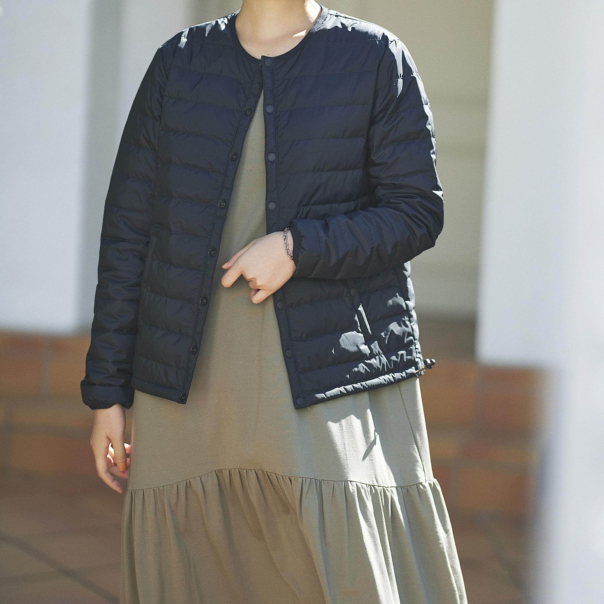 suadeo/【NANGA】コラボ オーロラノーカラーダウンジャケット/¥26,400