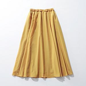 【洗える】シフォンフレアギャザーマキシスカート¥15,000+税