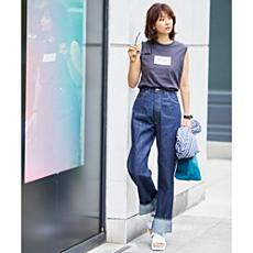 バランス上手なスタイリスト石上美津江さんがセレクト。秋本命の腰高ボトムこれです!