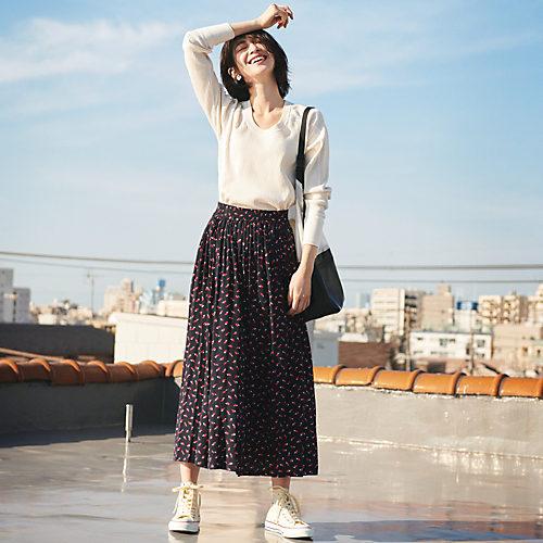 THE SHINZONE/ジオメトリックギャザースカート/¥26,000+税