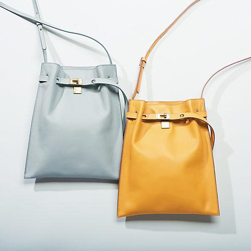ORSETTO/ショルダーレザーバッグ/¥32,000+税