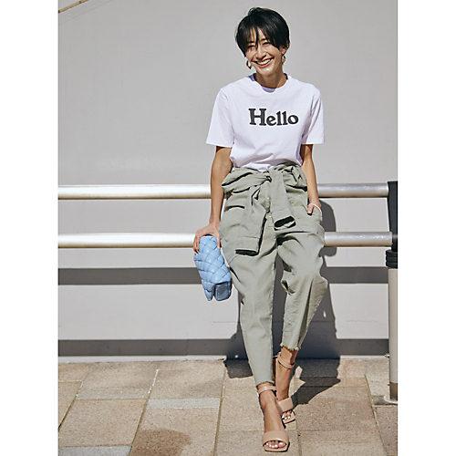MADISONBLUE/HELLO CREW NECK TEE/¥27,500