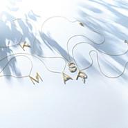 K18YG×淡水パール イニシャルネックレス『A〜Z』,CADEAUX