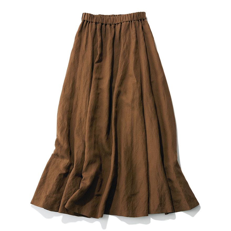 程よいボリューム感が絶妙なんです  M7days リネンマキシスカート