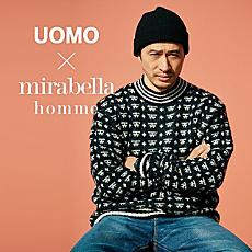 [UOMO3月号掲載]春ニットはミラベラオムで