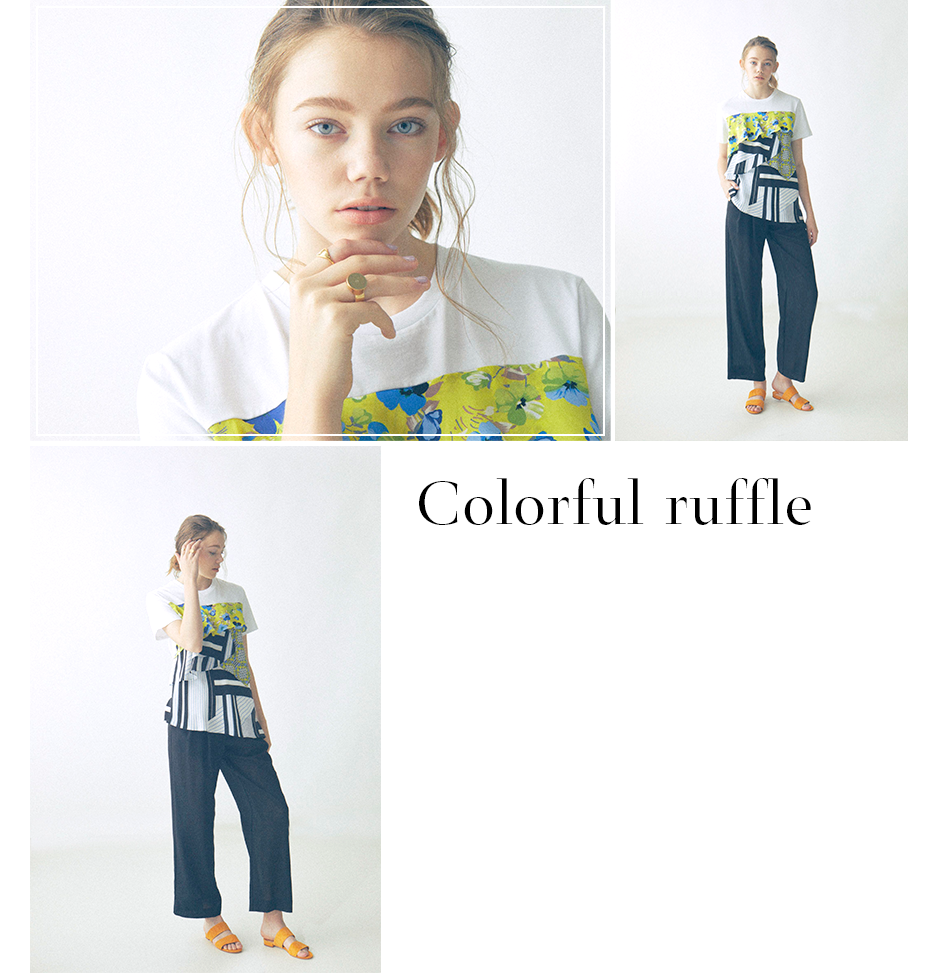 Colorful ruffle