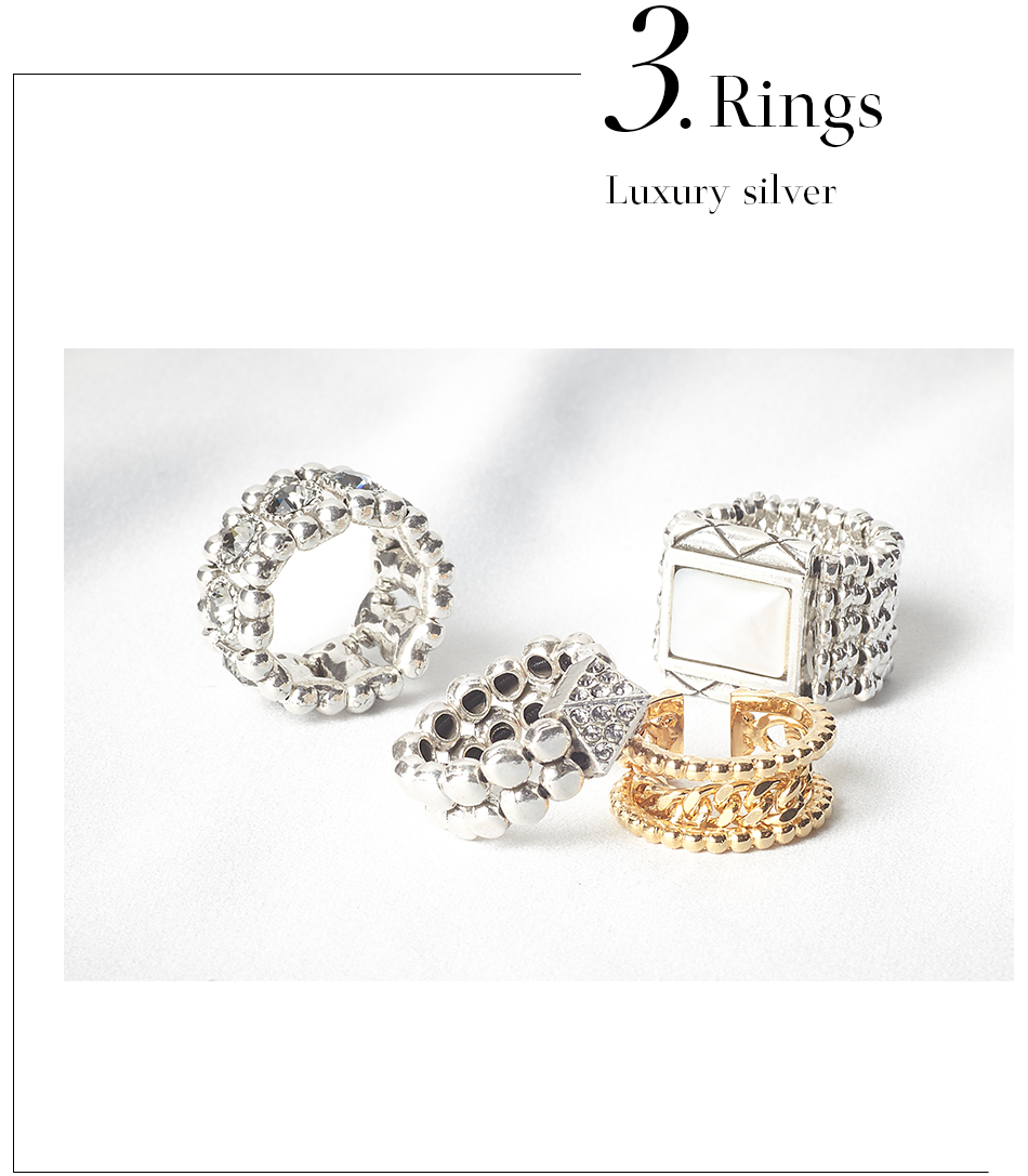 Rings Luxury silver