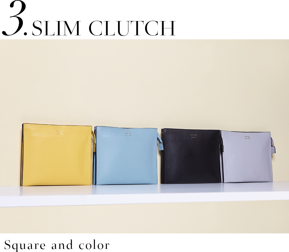 SLIM CLUTCH <Square and color>