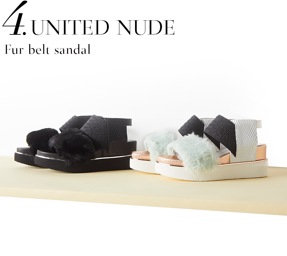 United Nude | Fur belt sandal