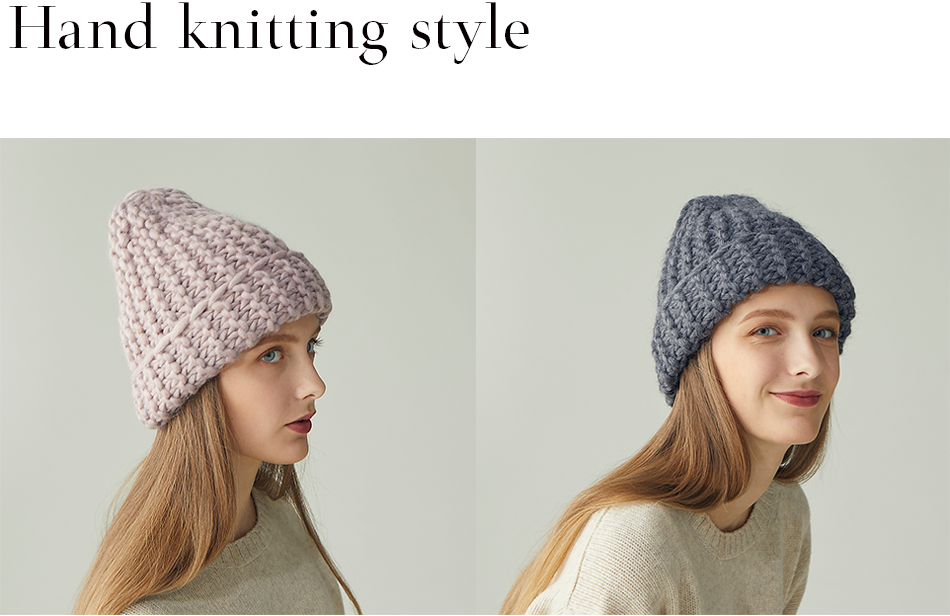 Hand knitting style