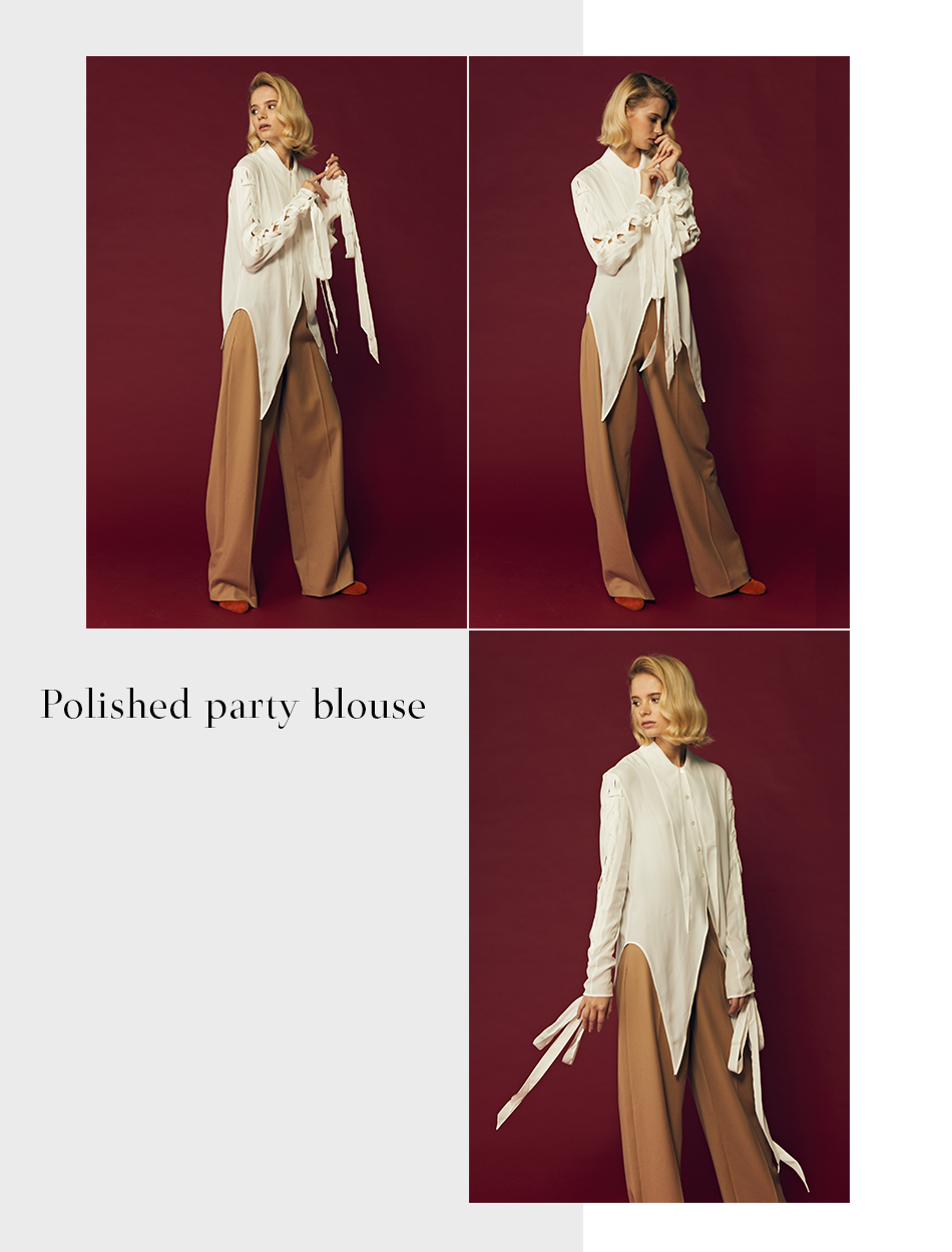 Polished party blouse