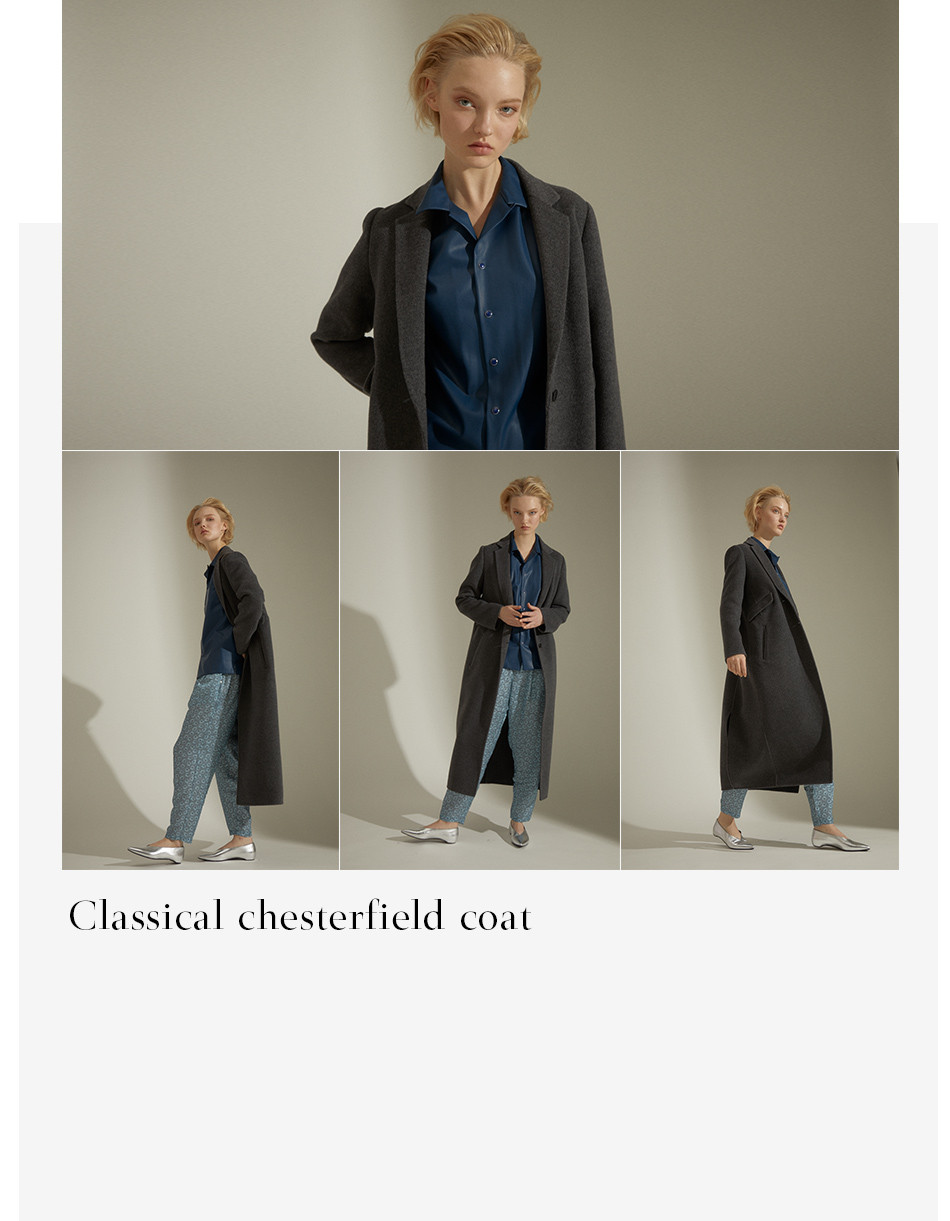 Classical chesterfield coat