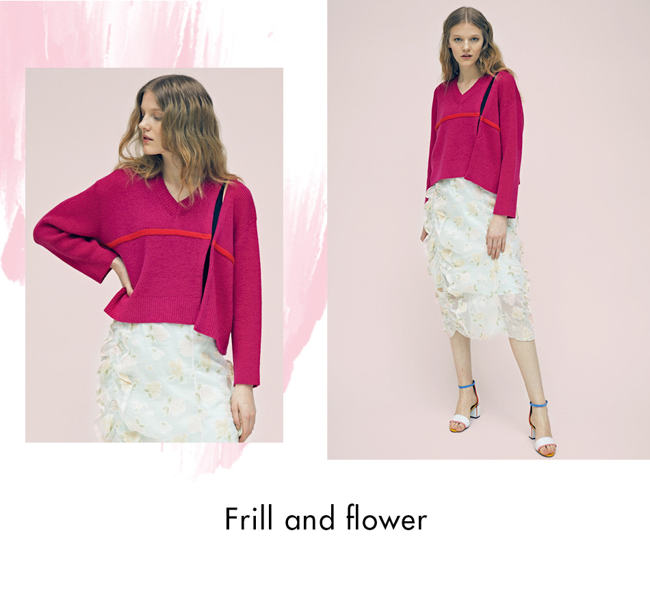 Frill and flower