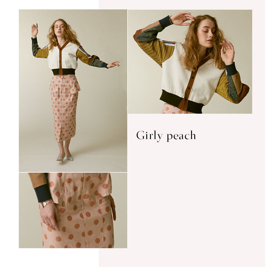Girly peach