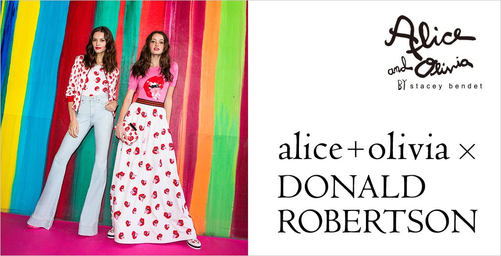 alice + olivia × DONALD ROBERTSON Capsule Collection