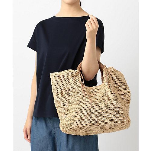 自由区 【マガジン掲載】ラフィア ハンドメッシュトートバッグ