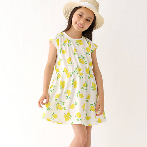 059fa99c4a281 3can4on(Kids)(サンカンシオン:キッズ)のレモンワンピース通販