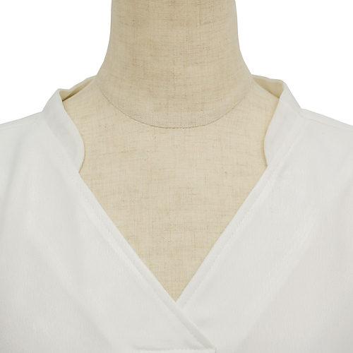 顔周りをスッキリみせるデザイン