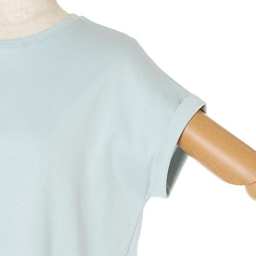 12closet【洗える】UV&接触冷感フレンチスリーブT¥7,150袖口Up