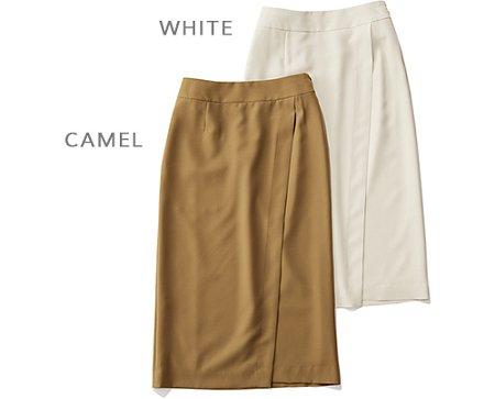 M7days 【洗える】とろみラップ風スカート